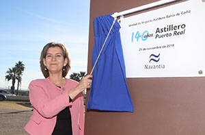 NAVANTIA uncovers a monolith commemorating the 140- year history of Puerto Real's shipyard