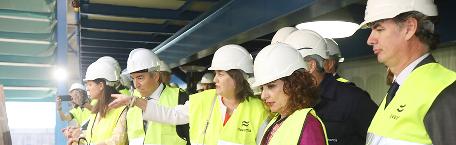 The Finance Minister assess the role played by the Bay of Cadiz in NAVANTIA's future