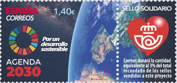 CORREOS y el Alto Comisionado para la agenda 2030 presentan un sello dedicado a los Objetivos de Desarrollo Sostenible